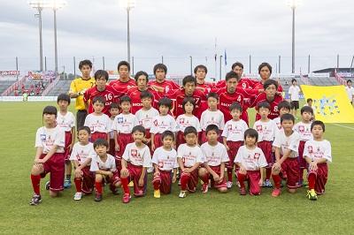 Honda FCスクール生との集合写真